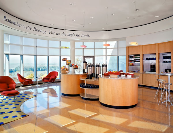 Boeing coffee bar photo by Debbie Franke